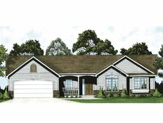 Ranch+House+Plan+with+1420+Square+Feet+and+3+Bedrooms+from+Dream+Home+Source+|+House+Plan+Code+DHSW66497