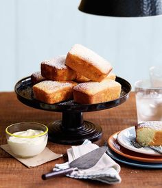 Australian Gourmet Traveller recipe for Meyer lemon and olive oil cakes by Hobart cafe Pigeon Hole.