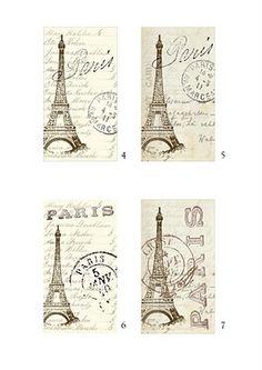 faux french vintage ephemeras to print