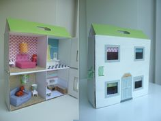 Dollhouse made out of boxes