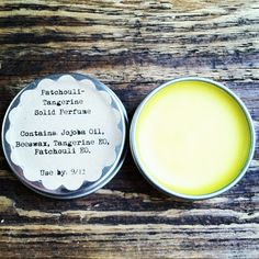 Patchouli Tangerine Solid Perfume. Great for airport travel and wonderful to keep in your purse!
