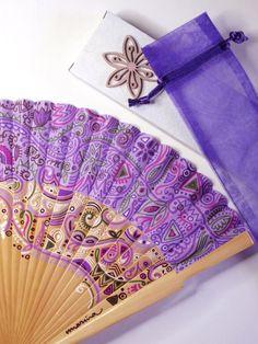 Abanicos de Marina, abanicos de madera pintados a mano con diseños exclusivos y personalizados. Mandalas, filigranas de flores, paisley, abstractos.