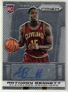 2013/14 Prizm Basketball Anthony Bennett Auto Rookie Card - Cleveland Cavaliers…