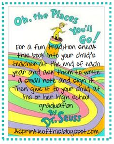 A Sprinkle of This . . . .: Great Dr. Seuss Keepsake for your Kids!