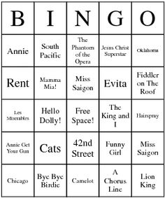 Musical Theater game! Major Broadway musicals! I WANT PLEASE!!!