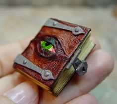 Miniature Potion Book ... I want this on a chain