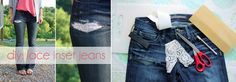 Shine Trim: Featured DY: Lace Insert Jeans