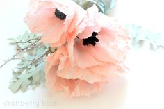 Crepe Paper Anemone flower tutorial - gorgeous!