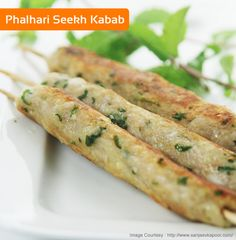 Phalhari Seekh Kabab - Delicious seekh kababs made with a combination of boiled bananas, potatoes and colacassia by Chef Sanjeev Kapoor! For recipes click here :- http://wonderchef.in/blog/?cat=320