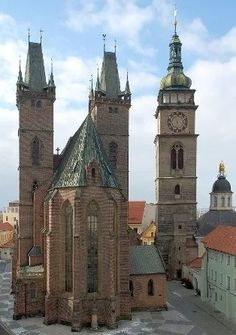 Late Gothic Cathedral of the Holy Spiritin Hradec Králové (East Bohemia), Czechia. #cathedral #czechia