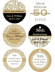50th Wedding Anniversary Gift Tags : 50th anniversary on Pinterest 50th anniversary centerpieces, 50th ...