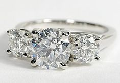 Three Stone Trellis Diamond Ring in Platinum #BlueNile
