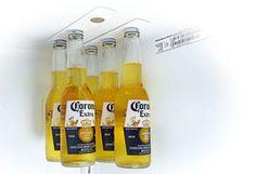 Bottle Loft, l'ingénieuse fixation magnétique pour ranger les bouteilles dans le frigo via @neozoneorg