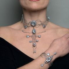 bionic choker and arm by Dominic Elvin, via Flickr