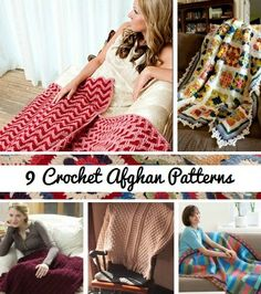 9 Cozy Crochet Afghan Patterns - get over the harsh winter we're having with these gorgeous afghan patterns!