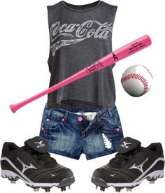 """Softball Chick"" by griffithkl22 on Polyvore"