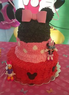 Minnie and michey cake♡♡♡