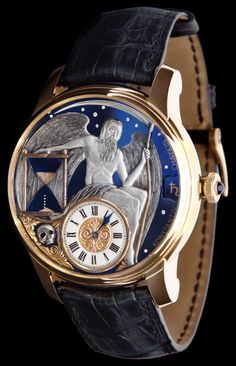 """Konstantin Chaykin Carpe Diem Watch: Finally, An Hourglass For The Wrist - Today on aBlogtoWatch.com """"Second only to the common jest of placing a sundial on the face of a wrist watch is the suggestion that there be an hourglass. Yes, the timing device of antiquity has a very low occurrence of actually being referenced on modern timepieces in any significant way..."""""""