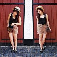 H Lovely Hat, Vintage Bag, Urban Outfitters Shoes, Romwe.Com Shorts, H Golden Chain
