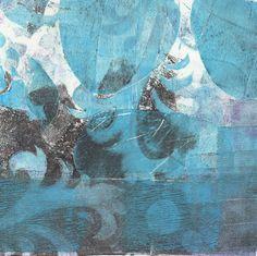 """Chloe Urban; Monotype, 2012, Printmaking """"Chukchi"""""""