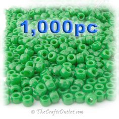The Crafts Outlet 1000-Piece Plastic Round Opaque Pony Beads, 9 by 6mm, Light Green The Crafts Outlet http://smile.amazon.com/dp/B00611XCI4/ref=cm_sw_r_pi_dp_aC3pwb1TMZC2Y