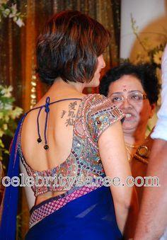 Saree Blouse Patterns: Mamata Mohandas in Deep Neck Blouses