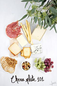 Yes, Thanksgiving really is next week. Yes, a cheese plate really is the best pre-dinner nosh. Check out this Cheese Plate 101 from Inspiration Nook.