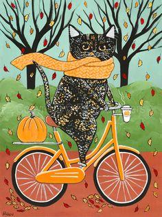 Black Tortie Halloween Bicycle Ride Cat Original Cat Folk Art Painting Black Tortie Halloween Bicycle Ride Cat Original Cat Folk Art Painting By Kilkennycat Art 67 45 Usd Copyright Ryan Conners Cat Behavior, Cat Drawing, Pics Art, Halloween Art, Cat Love, Cool Cats, Cat Art, Folk Art, Bicycle