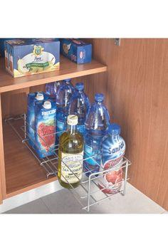 Vente METALTEX / 24028 / Cuisine / Poubelles et rangement / Porte-bouteilles coulissant Bottle Gris