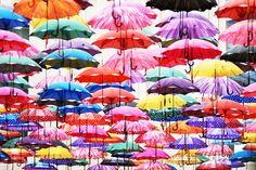 Umbrellas - Pinned by Mak Khalaf Abstract  by TAZ