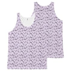 Lilac Floral All Over Print All-Over Print Tank Top Tank Tops