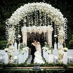 Incredible ceremony aisle and archway