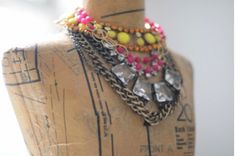 Layered chunky necklaces