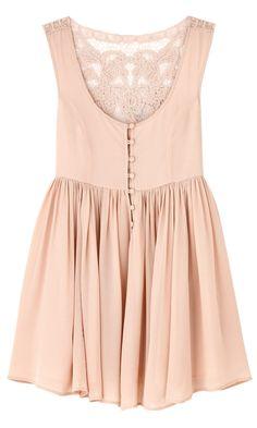 lace back dress... Love lace