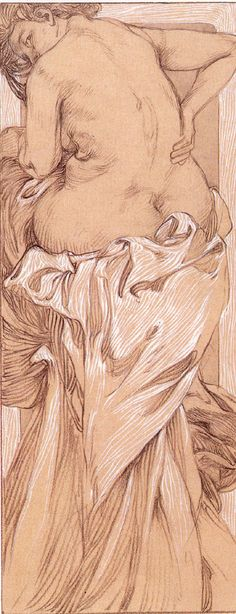 Study for Figures Decoratives by Alphonse Mucha, 1905 | Mucha Drawings and Photographs