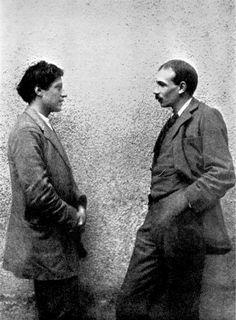 The artist Duncan Grant (left) with his longtime lover, the economist John Maynard Keynes.