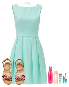 """""""~Happy Sunday~"""" by simply-natalee ❤ liked on Polyvore featuring Kate Spade, Maybelline, S'well and Kendra Scott"""