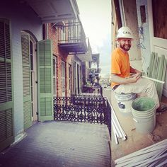 #flashbackfriday #green #renovation #painting #onebyone #construction #shutters #customwoodwork #commercialcontractor #NOLA #nolacontractor #frenchquarter #vieuxcarre #hardatwork #hardhat #cainconstructionanddesigns by cainconstructionanddesigns