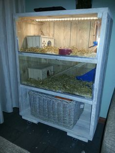 Guinea pig cage from repurposed dresser piggies guinea for Guinea pig dresser cage