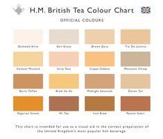 H.M. British Tea Colour Chart
