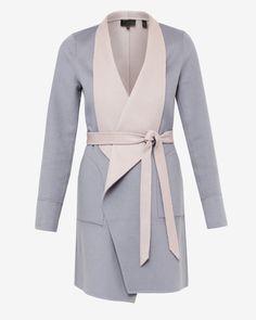 Reversible loose open coat - Taupe   Jackets & Coats   Ted Baker UK