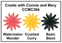 color challenge: CCMC364 ... rose pink, deep yellow & black ...