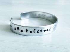 She believed she could so she did Hand stamped jewelry