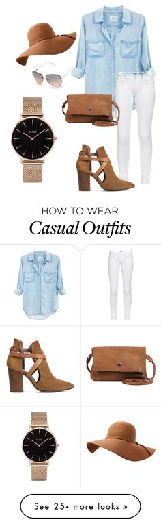 """Casual summer look"" by yarimar-santiago-maisonet on Polyvore featuring Rails, rag & bone, H London, Day & Mood, Tahari and CLUSE"