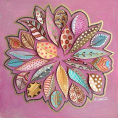 #leaves #zentangle #picoftheday #creativity #inspiration #art #painting