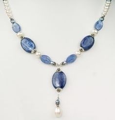 Kyanite and Pearl Necklace