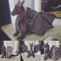 Ravelry: Project Gallery for Dragon pattern by Crafty Intentions Crochet Dragon Pattern, Crochet Patterns Amigurumi, Crochet Dolls, Crochet Stitches, Knitting Patterns, Kawaii Crochet, Cute Crochet, Crochet For Kids, Crochet Art