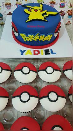 Pokemon cake and cupcakes