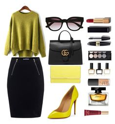 """Untitled #241"" by sanela-o ❤ liked on Polyvore featuring T By Alexander Wang, Christian Louboutin, Henri Bendel, Witchery, Gucci, Chanel, Max Factor, Balmain, NARS Cosmetics and Dolce&Gabbana"