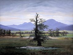Caspar David  Friedrich (1774-1840), L'arbre seul - 1822.